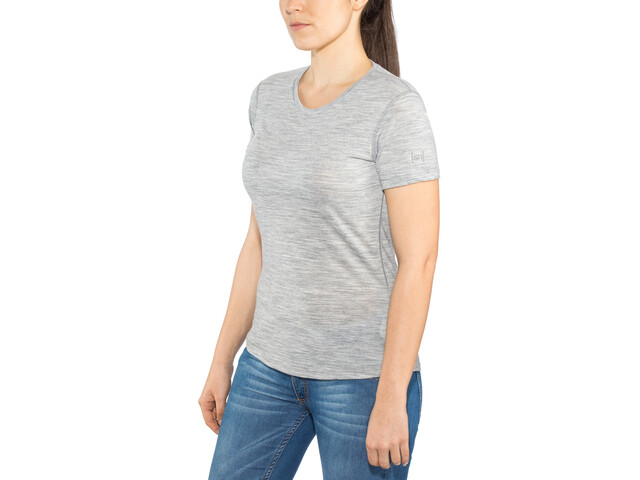 super.natural Base Tee 140 Damen ash melange